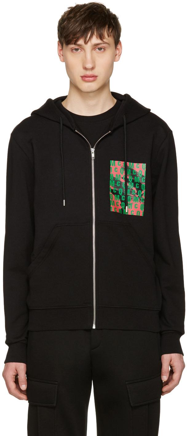 mcq alexander mcqueen black logo clean hoodie ssense. Black Bedroom Furniture Sets. Home Design Ideas