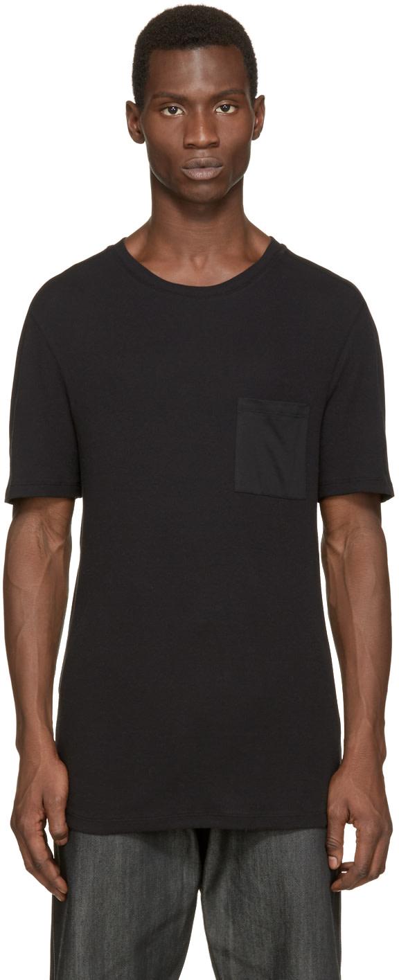 Helmut lang black jersey t shirt ssense for Helmut lang tee shirts