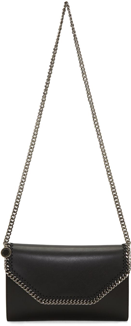 STELLA MCCARTNEY Black Falabella Chain Clutch