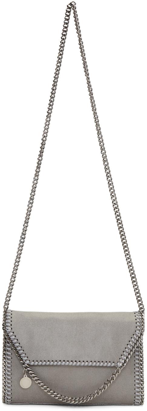 STELLA MCCARTNEY Grey Mini Folded Falabella Bag