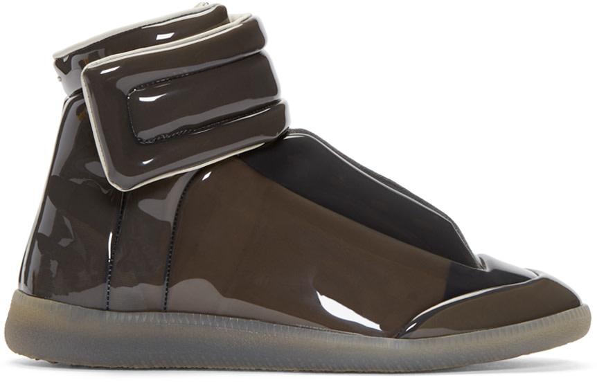 Maison Margiela Grey Transparent Future High Top Sneakers
