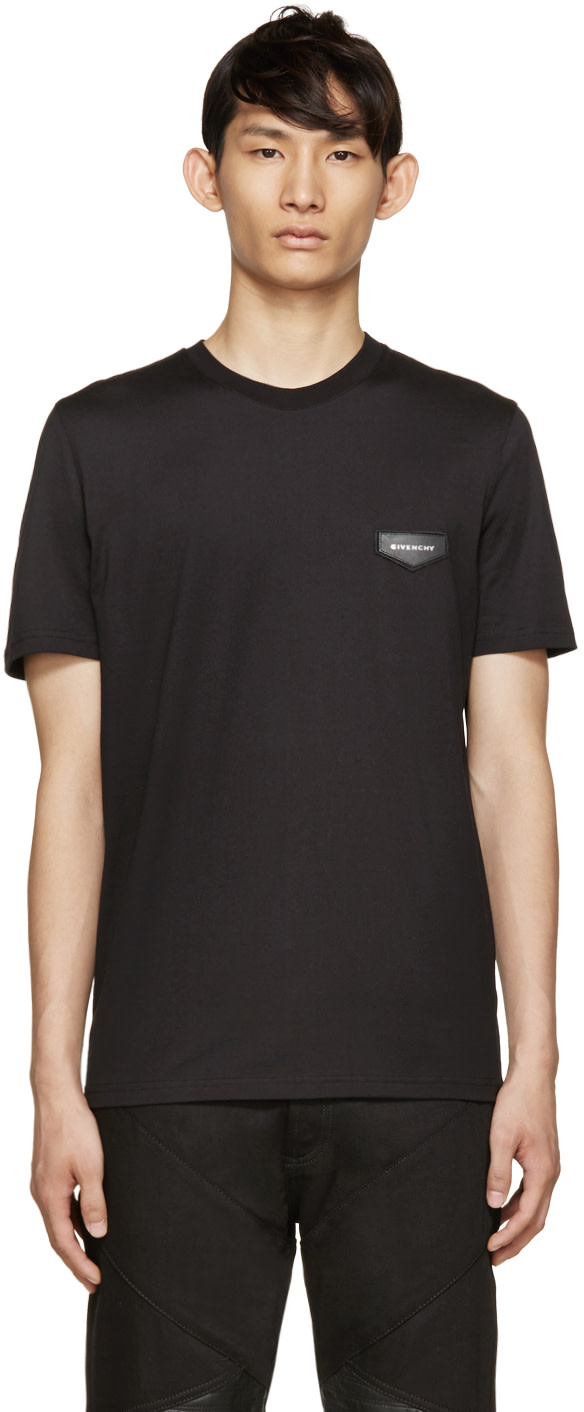 Givenchy black logo t shirt ssense for Givenchy t shirt size chart