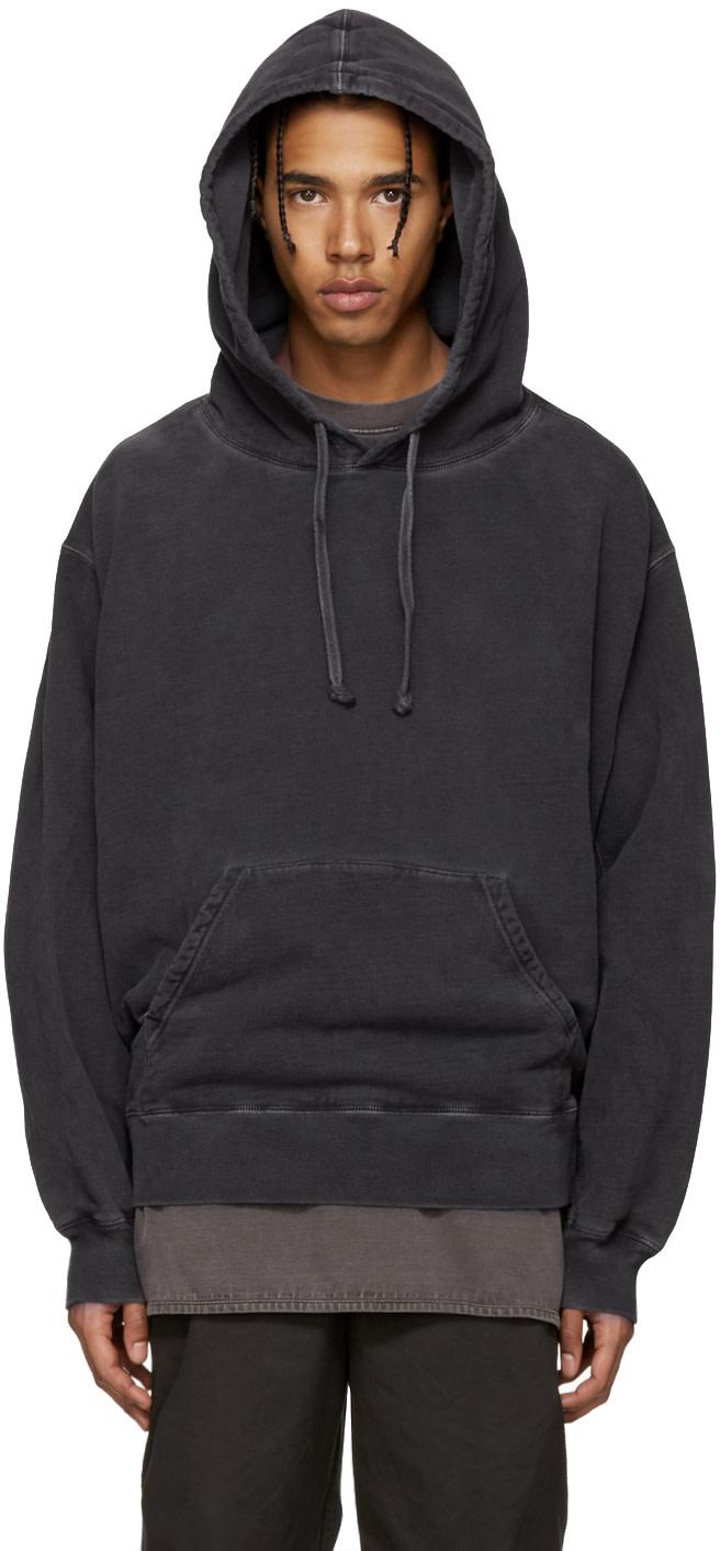 yeezy season 3 grey relaxed fit hoodie ssense. Black Bedroom Furniture Sets. Home Design Ideas