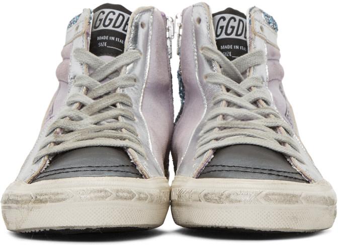 GOLDEN GOOSE Multicolor Slide High-Top Sneakers