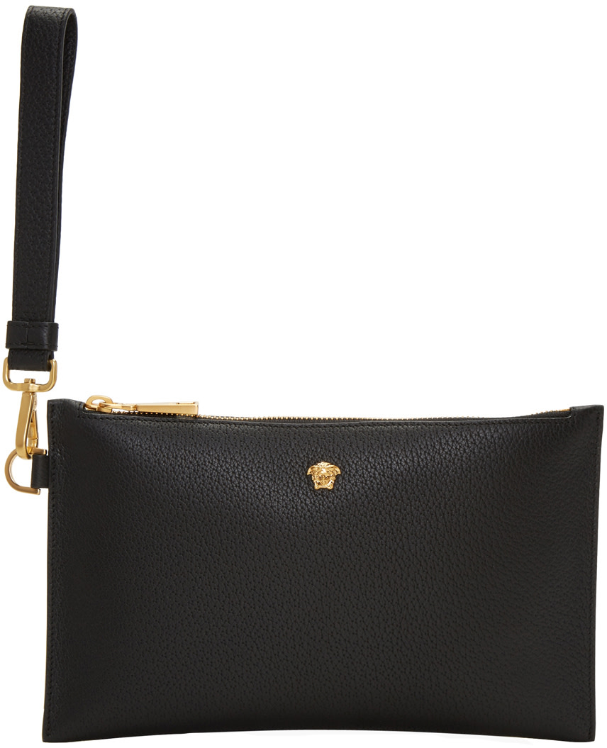 VERSACE SMALL TUMBLED LEATHER POUCH 2018 New Cheap Online Sale Choice Cheap Sale Fashion Style iCeyebWE