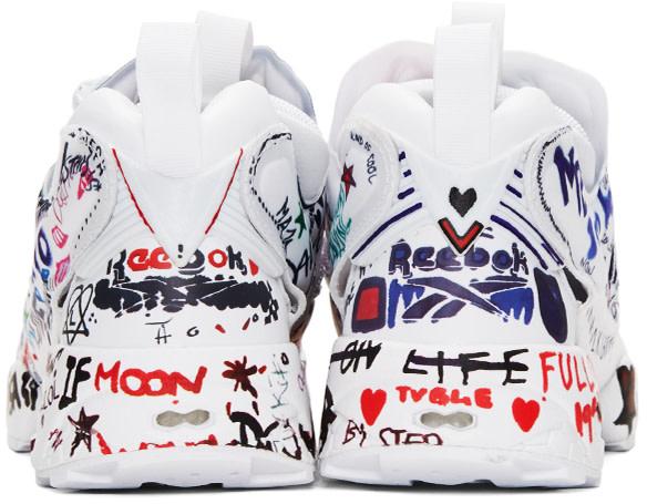 Vetements - White Reebok Edition Graffiti Instapump Fury Sneakers