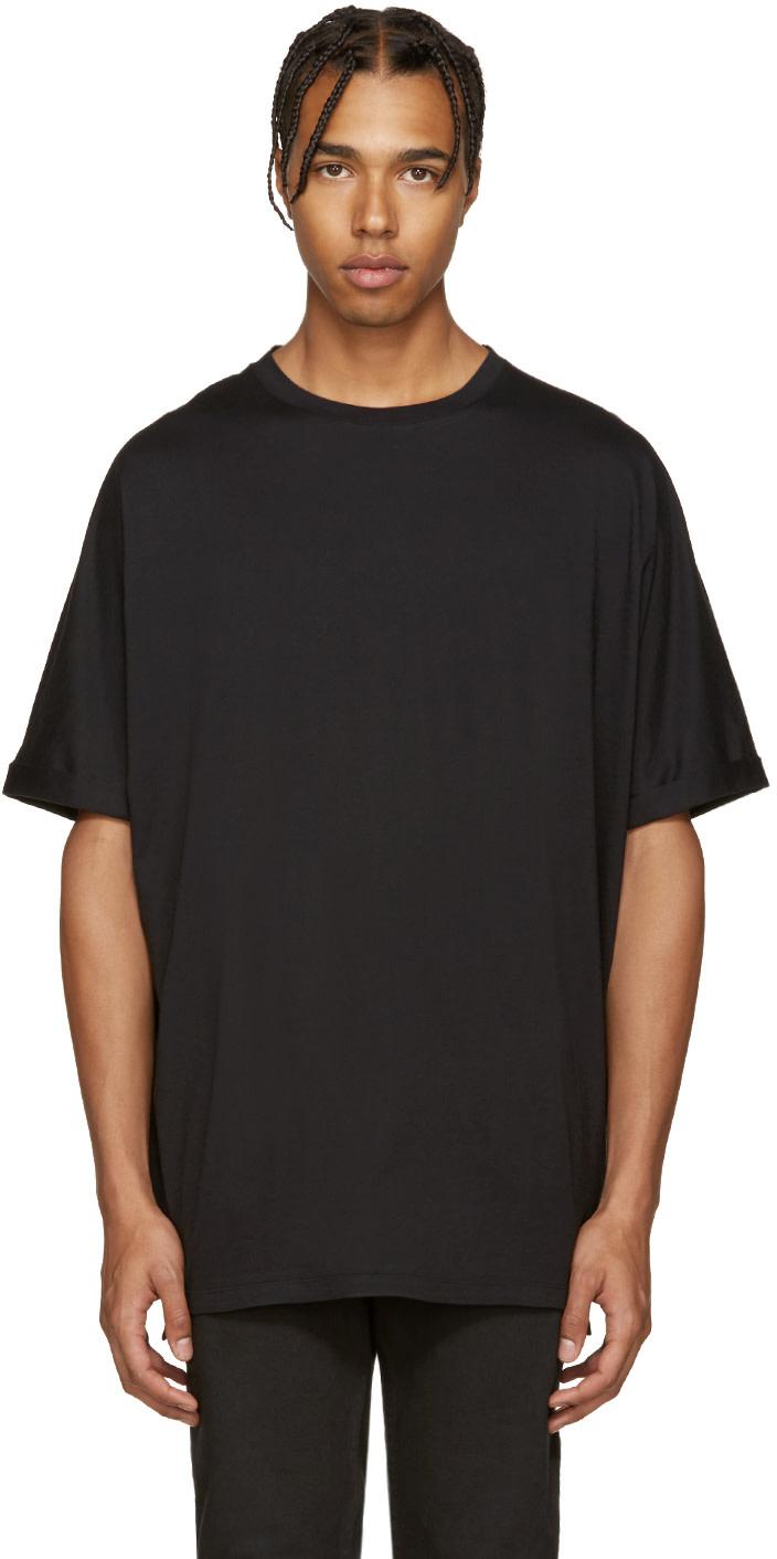 Helmut lang black oversized t shirt ssense for Helmut lang tee shirts