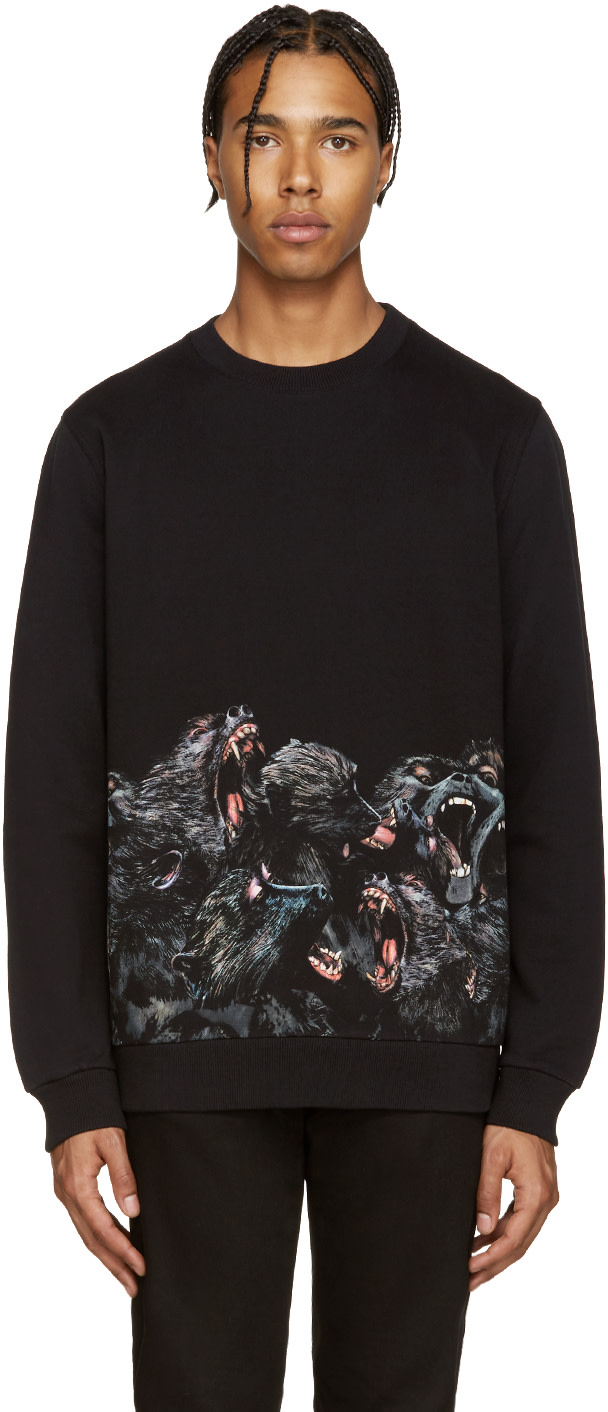 givenchy black monkey pullover ssense. Black Bedroom Furniture Sets. Home Design Ideas