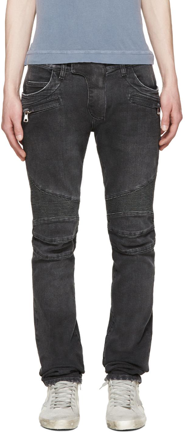 Grey patch jeans women
