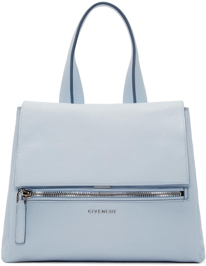 Givenchy: Blue Small Pandora Pure Bag