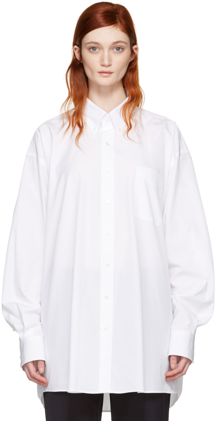 MAISON MARTIN MARGIELA Oversize Long Sleeve Shirt at SSENSE