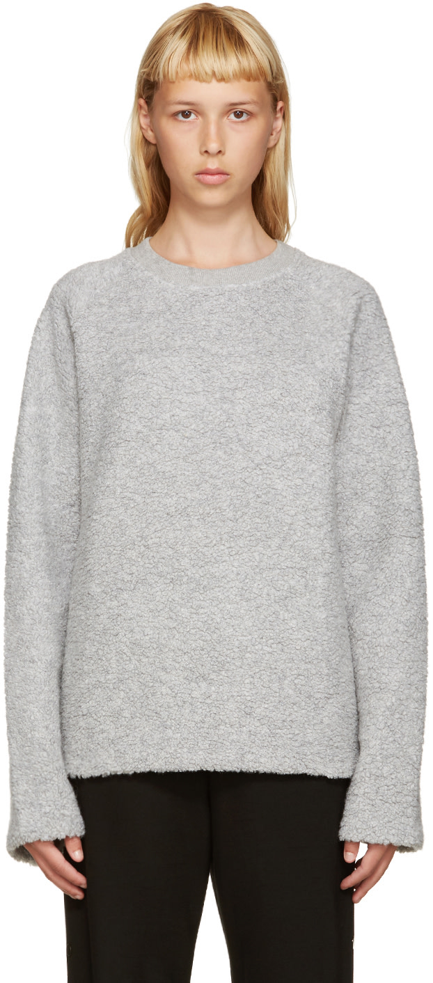 acne studios grey wool cassie pullover ssense. Black Bedroom Furniture Sets. Home Design Ideas