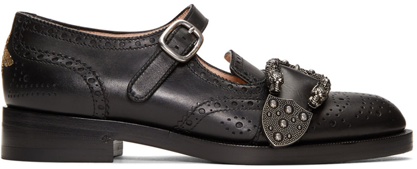 Black Queercore Mary Jane Brogues