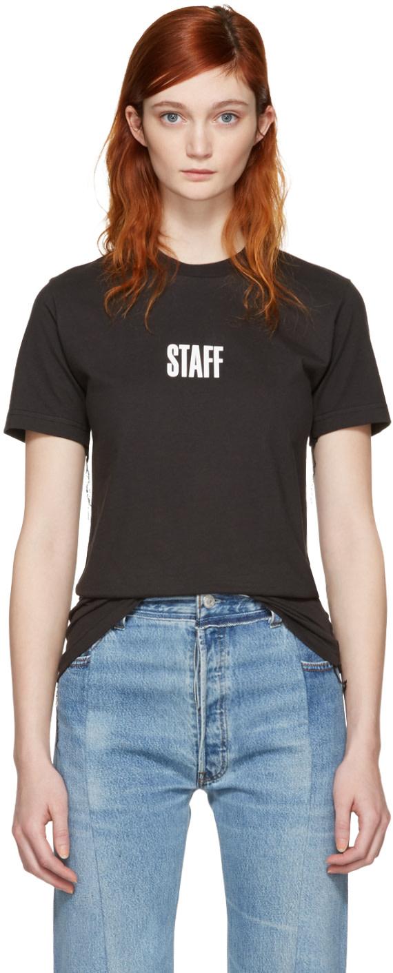Vetements Black Hanes Edition Quick Made T Shirt Ssense