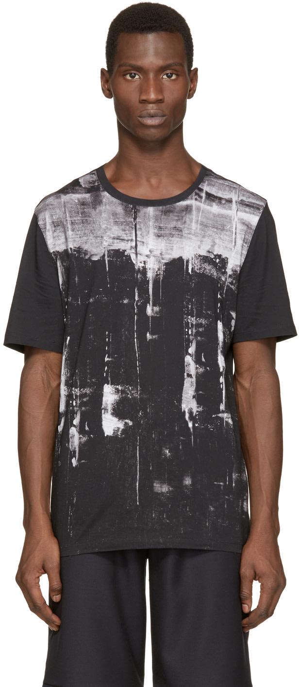 Helmut lang black white transverse t shirt ssense for Helmut lang tee shirts