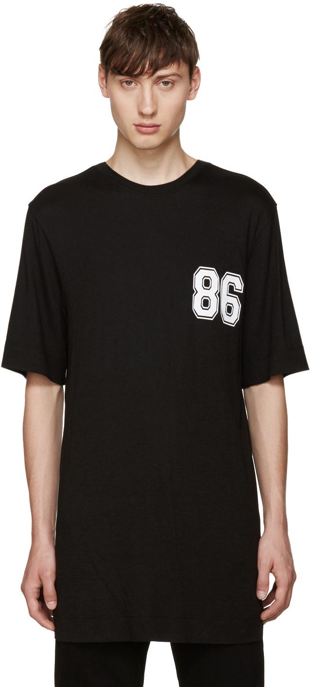 Helmut lang black varsity logo t shirt ssense for Helmut lang t shirt