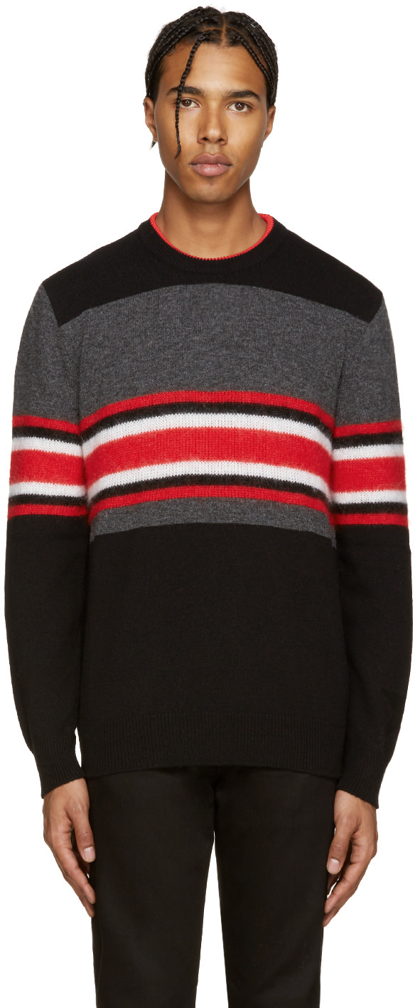 givenchy multicolor wool striped pullover ssense. Black Bedroom Furniture Sets. Home Design Ideas