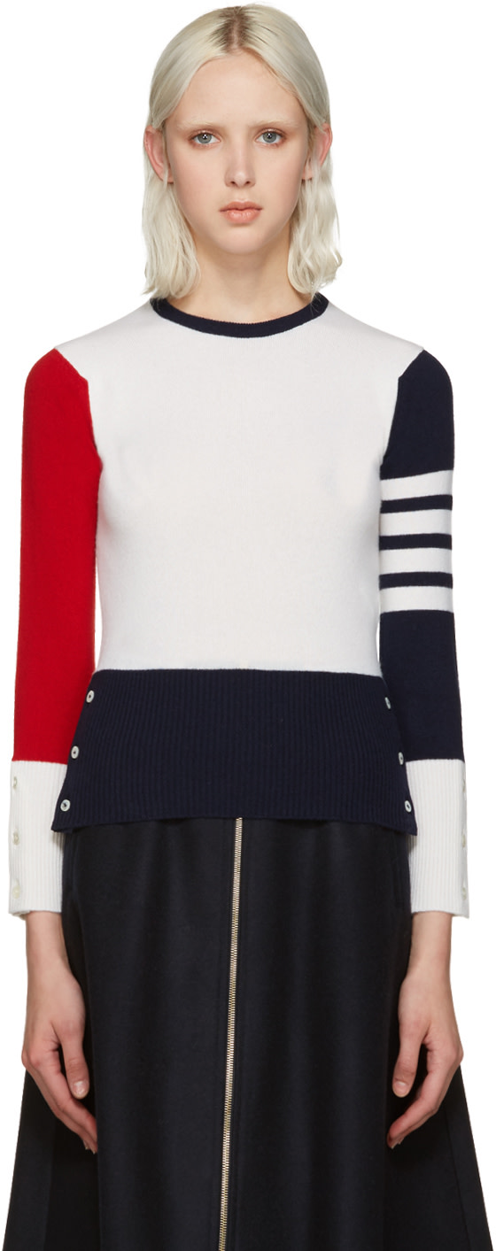Thom Browne: Tricolor Cashmere Sweater