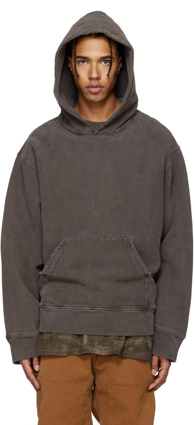 yeezy season 3 brown fleece hoodie ssense. Black Bedroom Furniture Sets. Home Design Ideas