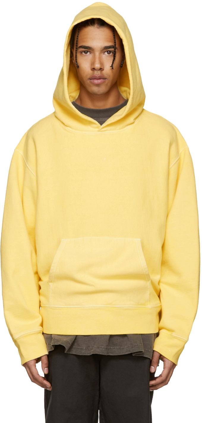 yeezy season 3 yellow fleece hoodie ssense. Black Bedroom Furniture Sets. Home Design Ideas