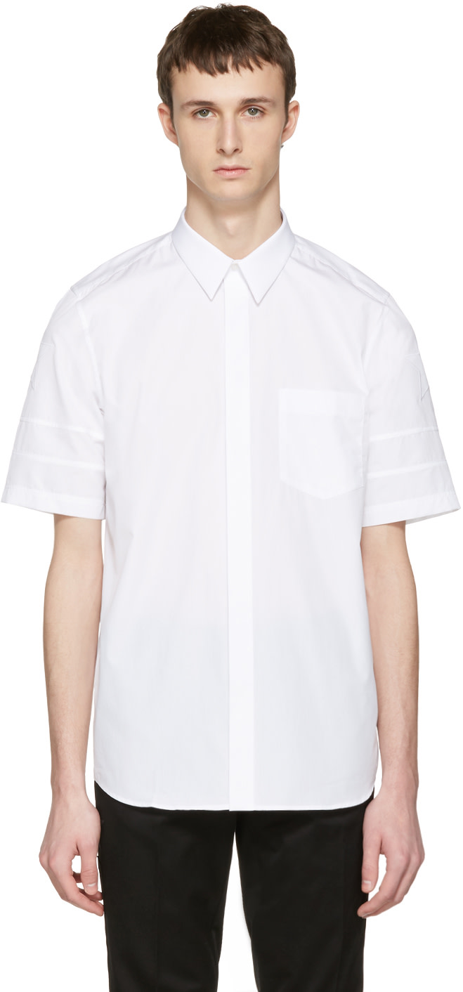 givenchy white star sleeve shirt ssense