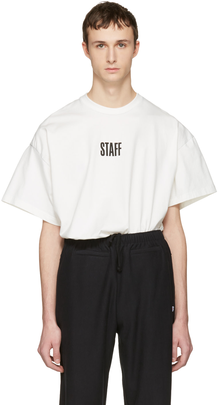 Vetements white hanes edition quick made oversized 39 staff for Vetements basic staff t shirt