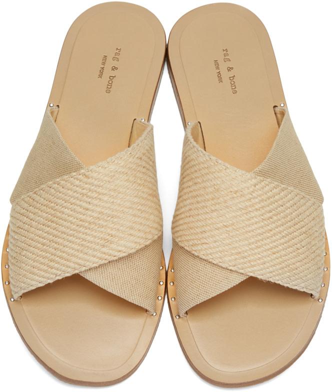 264a23c62f3f RAG   BONE Keaton Flat Crisscross Canvas Slide Sandal