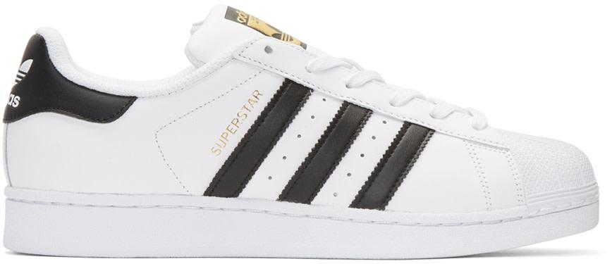 White & Black Superstar Sneakers