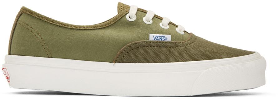 e8e04584bb4dd4 Vans Green Schoeller Edition Authentic  66 Lite Lx Sneakers