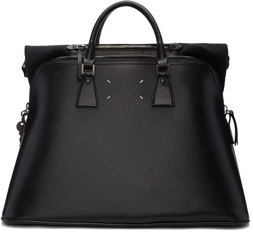 MAISON MARTIN MARGIELA Black Leather 5Ac Bag