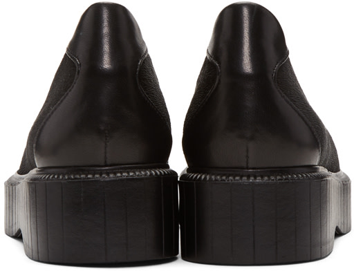 ROBERT CLERGERIE Black Pauli Jersey Slip-On Sneakers