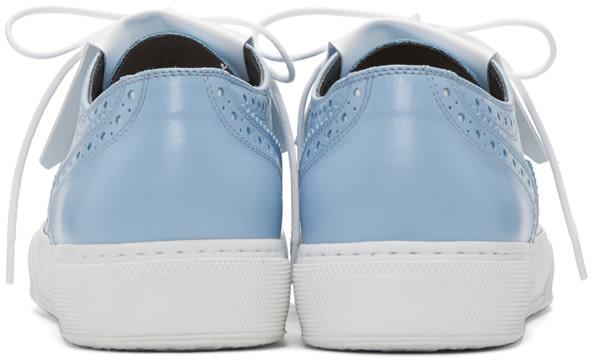 ROBERT CLERGERIE Blue Tolka Brogue Sneakers