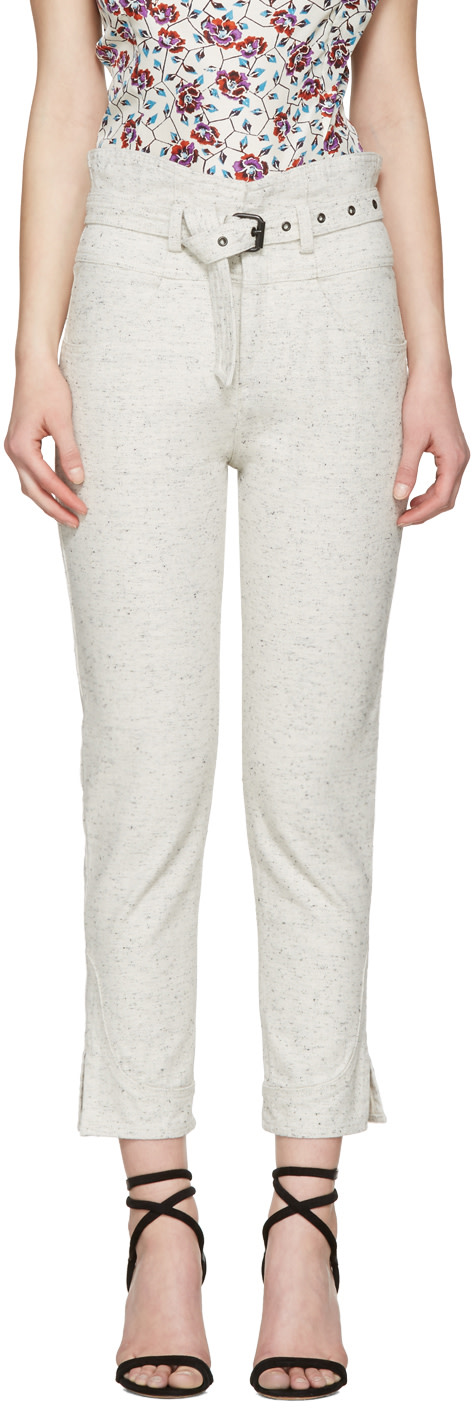 ISABEL MARANT Off-White Evera Jeans at SSENSE