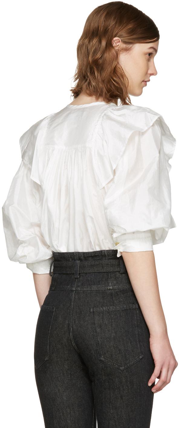 ISABEL MARANT Arlington Modern Silk Ruffle Top