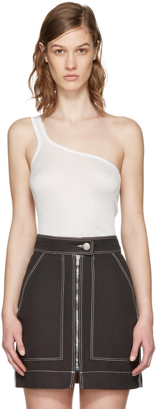 ISABEL MARANT Ecru Mantsy Single-Shoulder Top
