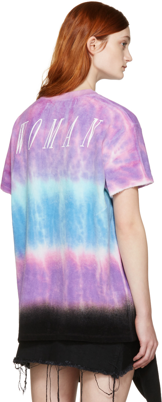 OFF-WHITE Printed Tie-Dyed Micro Modal T-Shirt