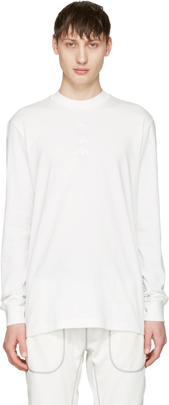 Adidas Originals By Alexander Wang Logo Cotton Long Sleeve