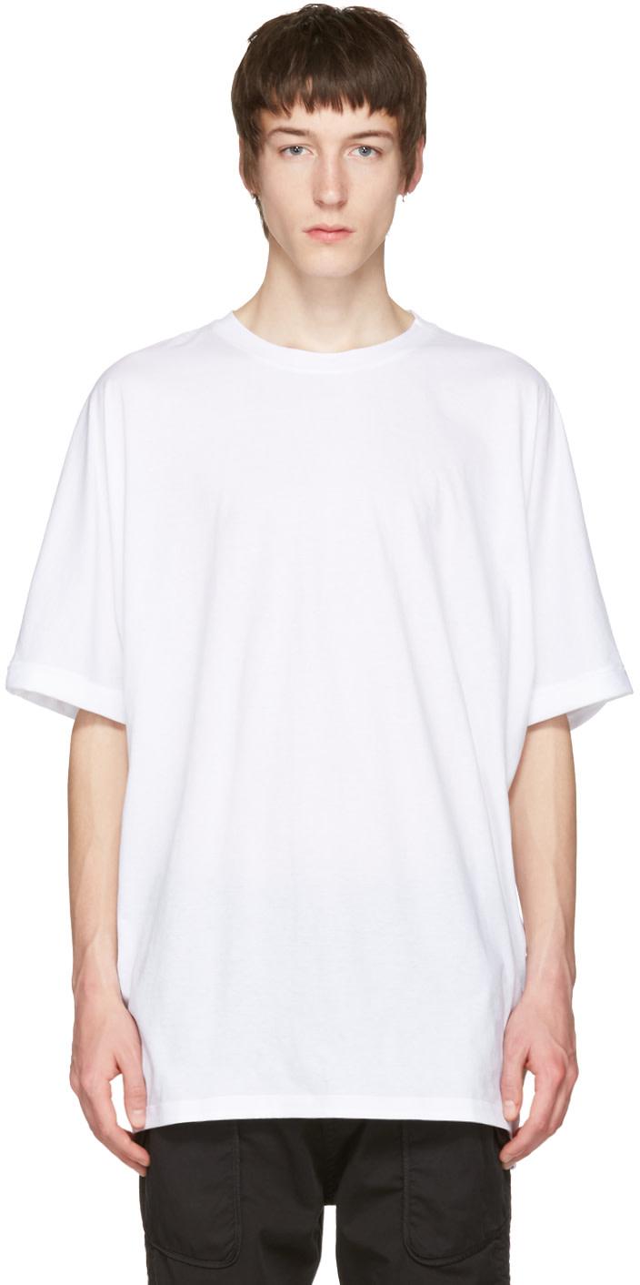 Helmut lang white uni sleeve t shirt modesens for Helmut lang tee shirts