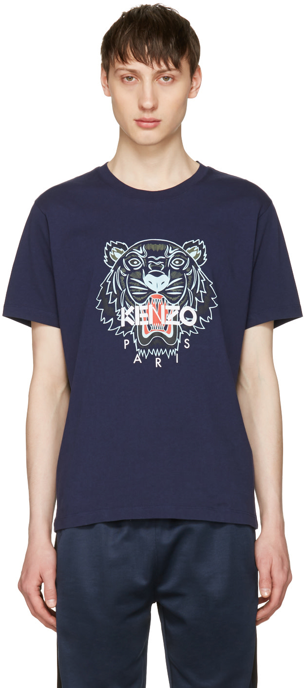 5b0251bf KENZO Navy Limited Edition Tiger T-Shirt, 78 Ink | ModeSens