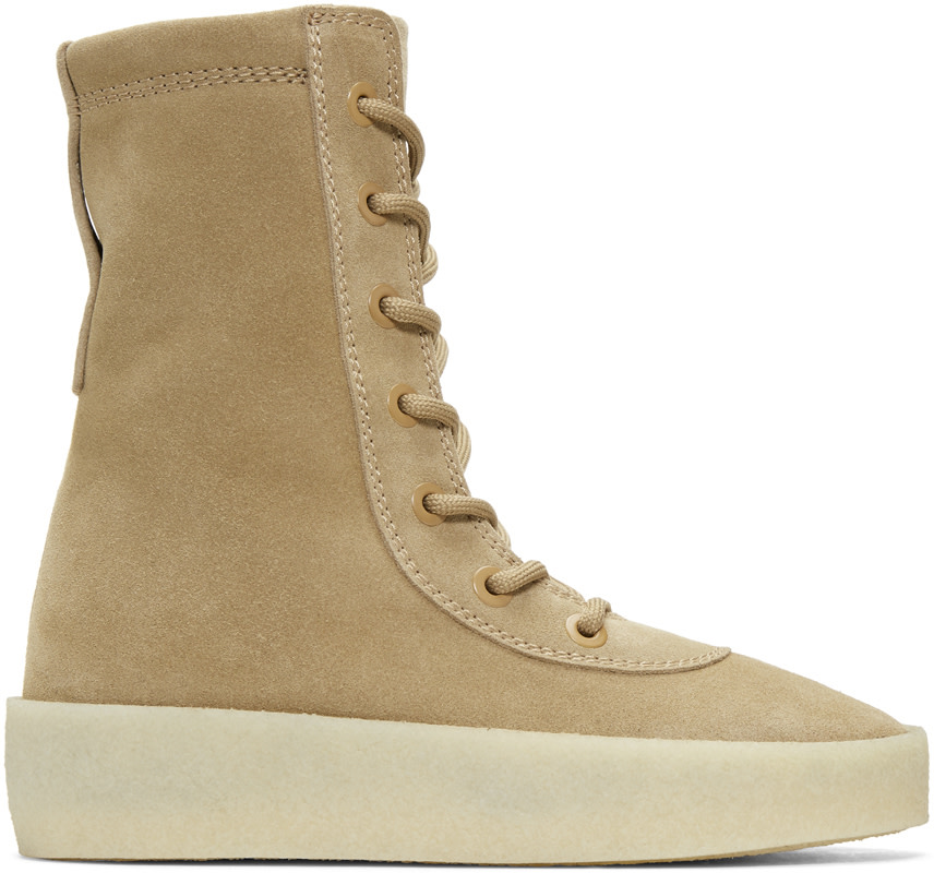 Yeezy CrÊpe Suede Boots (season 2) In Taupe