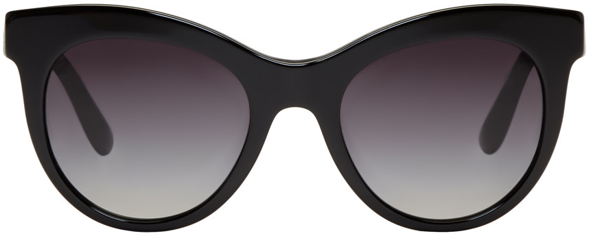 Black Cat Eye Sunglasses  dolce gabbana black cat eye sunglasses ssense