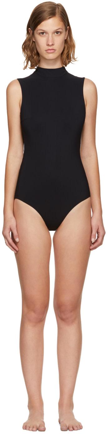 WARD WHILLAS Harrison Reversible Cutout Swimsuit in White/Black