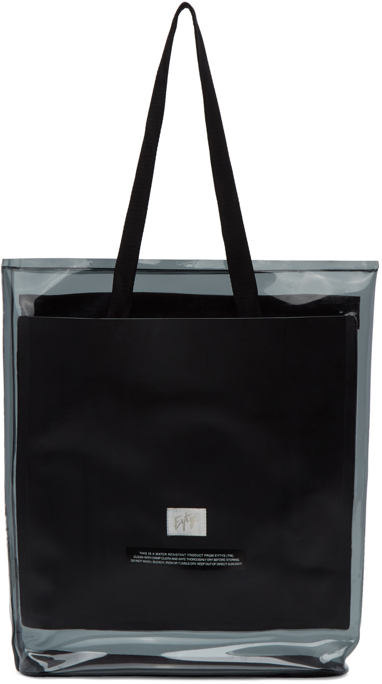 EYTYS Black Pvc Void Tote at SSENSE