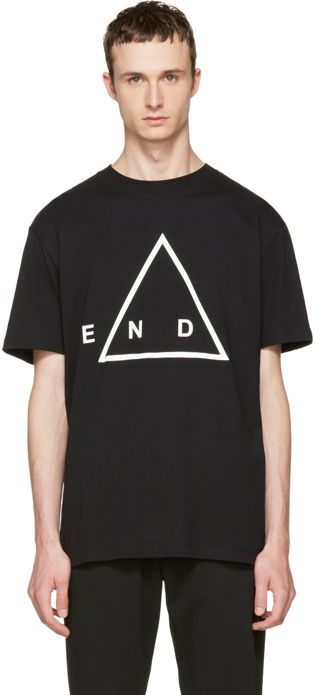 Mcq By Alexander Mcqueen Cottons Black 'End' T-Shirt