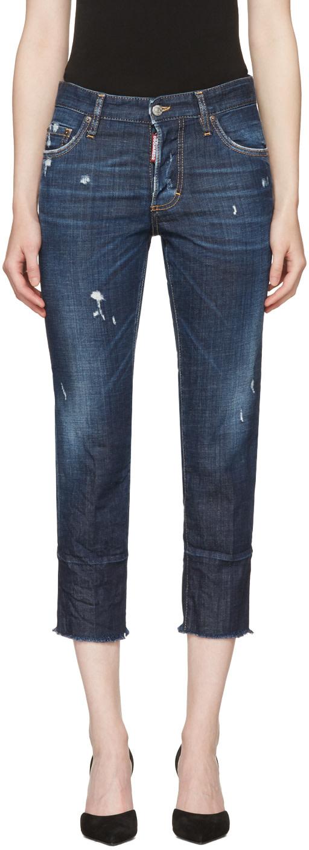 Dsquared2 Cottons Blue Boyfriend Jeans