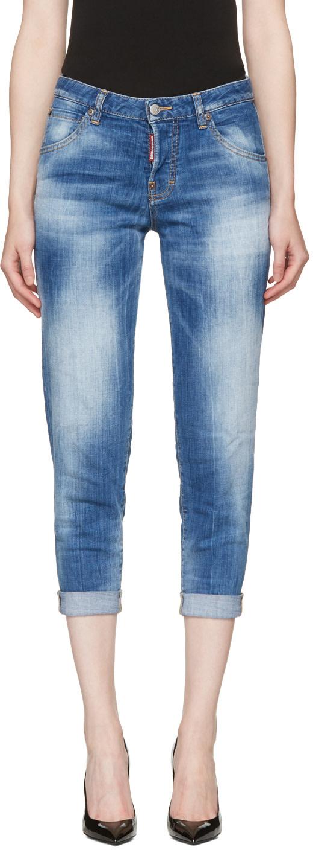 Dsquared2 Cottons Blue Hockney Jeans