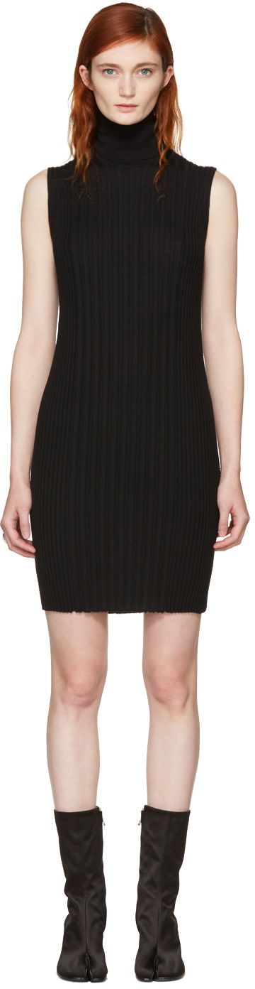 Maison Margiela Dresses Black Sleeveless Turtleneck Dress