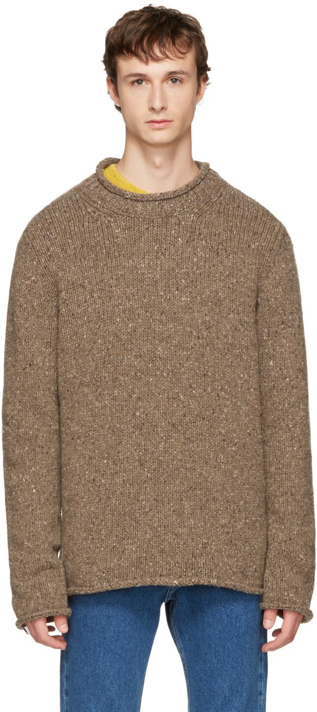 Maison Margiela Wools Beige Donegal Sweater