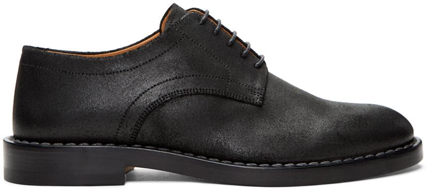 Maison Margiela Leathers Black Leather Derbys