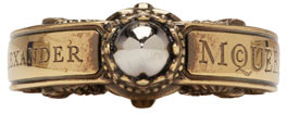 Alexander Mcqueen Rings Gold Skull Engraved Ring
